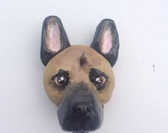 German Shepherd magnet, german shepherd art, german shepherd gift, dog magnet, dog lover gift