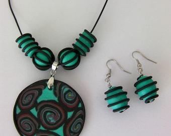 Aqua Necklace & Earring Set