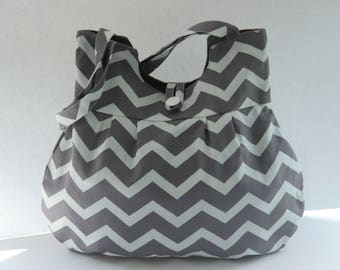 Grey chevron bag