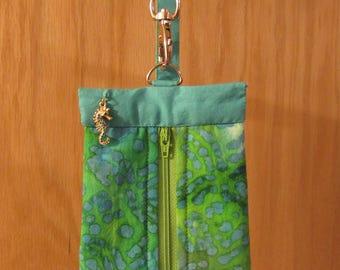 Zipper Front Wristlet Bag