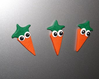 Cute Handmade Carrot Polymer Clay Fridge Magnet