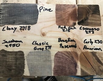 Choices of wood and stains.