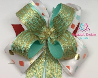 Girls Hair bow, Hair bow, Boutique Hair bow, Spike Hair Bow