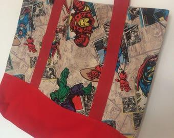 Superhero Marvel Large Cotton Tote Bag