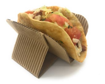Disposable Taco Holder Rack Stands for Hard or Soft Tacos Shells, Shawarmas, Hot Dogs, Waffle Sandwiches, Gyros, Pita Wraps.
