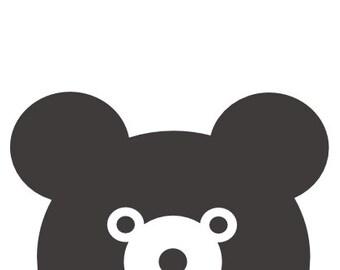 Little Bear Teddy Bear Baby Nursery Poster Print