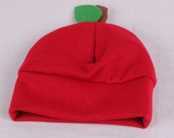 Cutest little baby hat / Apple hat for baby / Baby shower gift / Newborn baby / Baby winter hat / Gender neutral baby hat / Cutest baby hat