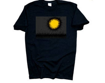 Black t-shirt Sun/Moon - 100% cotton fashion collection designer limited edition tee (men / women)