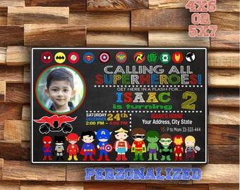 Superhero Birthday Invitation - Superhero Party Invitation - Superhero Boy Invitation - Superhero Invitation - Superhero