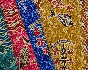 Batik Style Fish Fabric