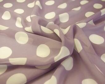 Polka Dot Lilac Chiffon