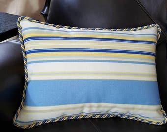 13x18 Blue Stripe throw pillow
