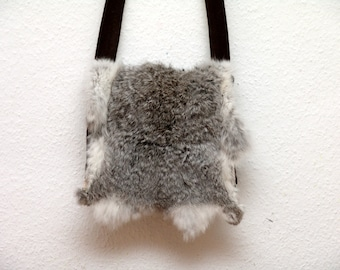 Bag, fur, rabbit, Viking, reenact, middle ages, LARP, RUS, wool