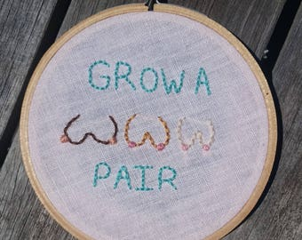 grow a pair booby trio hoop