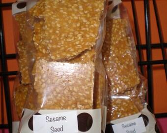 Nutty Brittle, sesame seed Brittle, Brittle sesame seed, brittle, homemade buttery Brittle, 6 oz bag of Brittle, homemade brittle