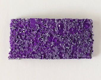 Perfectly purple glitter snap clip OR alligator clip