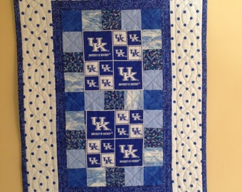 U of K Hand Quilted Wall Hanging