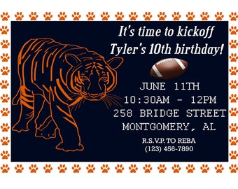 Auburn Invitation