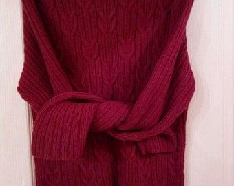 Handmade Knit Sweater, 100%Wool, size M-L.