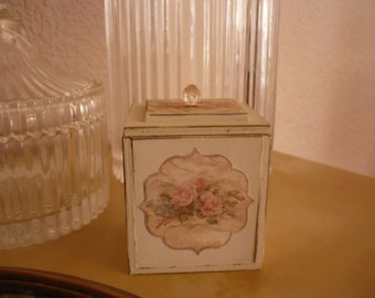 Small wooden box.
