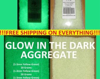 UniGlow's Glow In The Dark Aggregate. (YELLOW-GREEN) 1-3mm