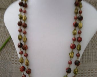 Vintage Very Long Bead Necklace