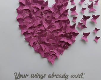 3D butterfly heart