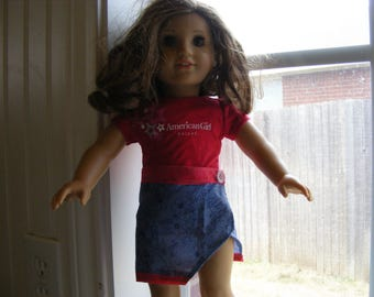 American Girl Doll Wrap Skirt