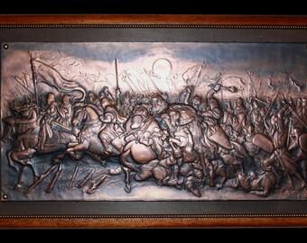 Battle Templar in embossed copper
