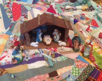 Vintage Christmas Nativity Set Japan
