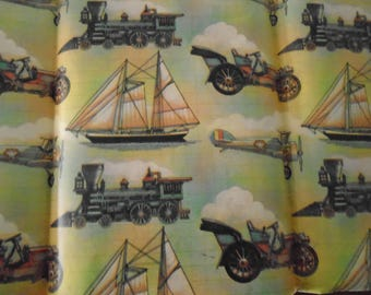 Transportation Vintage Wrapping Paper