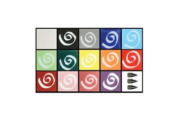 Glassline basic paint kit for glass fusing-14 colors