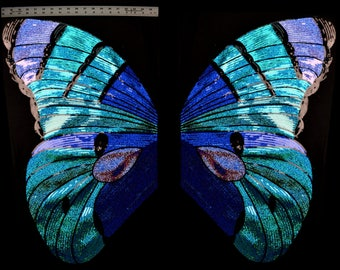 Very large Sequined Applique Butterfly Wings