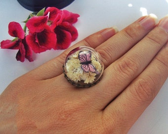 Handmade lady's ring Butterfly SUMMER COLLECTION