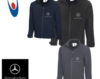 Mercedes Uneek Premium Full Zip Soft Shell Jacket With Embroidered Logo