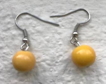 Yellow Bead Earrings