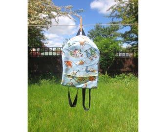 Alice in Wonderland Backpack - Small backpack - Festival Backpack - Cute Backpack