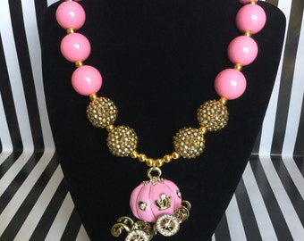 Pink Carriage Fairytale Bubblegum Bead Necklace
