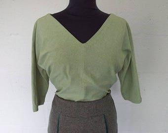 Soft Green Jersey Top