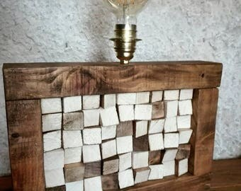 Vintage style wooden lamp