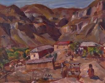 Mountain Village, 1984, archival inkjet print on canvas