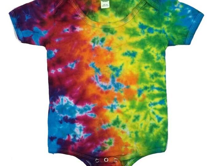 Tie Dye One-Piece - Crinkle Rainbow Aqua