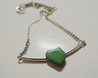 Hand made stone necklace