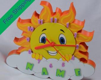 Wall Clock Children Room Gift Birthdays Newborns Decoration