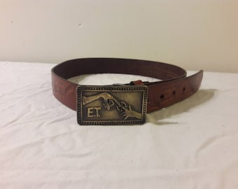 1982 E.T. Leather Belt & Buckle