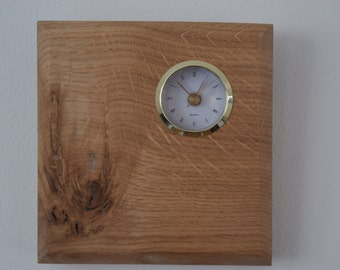 Solid Oak Wall Clock