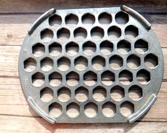 Dumplings Vintage Metal Aluminum Ravioli Cutter Maker Retro Cookware Rustic Decor Soviet era Russian Pelmeni