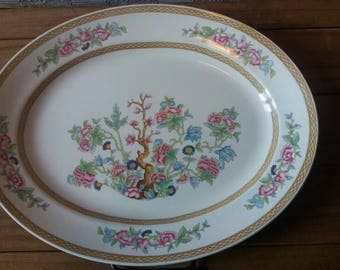Swinnertons oval platter, meat platter, large plate, oriental design plate, vintage oval plate, serving dish