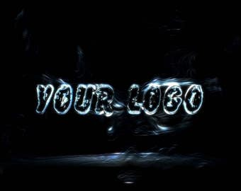 Video Intro or Outro, Black logo from black water
