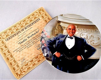 """Daddy Warbucks"""" Knowles Collectors 2nd Issue 1982 Certificate Plate: B1927"""